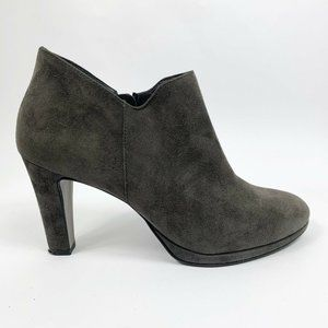 Paul Green 9 Jazzy Ankle Boots Gray Suede Heeled B